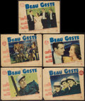 "Movie Posters:Adventure, Beau Geste & Other Lot (Paramount, 1939). Lobby Cards (5) (11""X 14"") & Australian Promo Poster (16.5"" X 21""). Adventure.. ...(Total: 6 Item)"