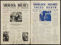 "Movie Posters:Mystery, Sherlock Holmes Lot (Universal, 1942-1943). Australian Press Sheets(2) (2 Pages, 10"" X 14.75""). Mystery.. ... (Total: 2 Items)"