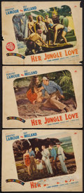 "Movie Posters:Adventure, Her Jungle Love (Paramount, 1938). Lobby Cards (3) (10.75"" X 14""& 11"" X 14""). Adventure.. ... (Total: 3 Items)"