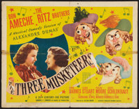 "The Three Musketeers (20th Century Fox, 1939). Half Sheet (22"" X 28""). Swashbuckler"