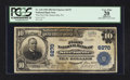 National Bank Notes:Pennsylvania, Sutersville, PA - $10 1902 Plain Back Fr. 634 The First NB Ch. #6270. ...