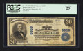 National Bank Notes:Pennsylvania, Harrisville, PA - $20 1902 Plain Back Fr. 650 The First NB Ch. # 6859. ...