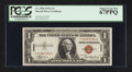 Small Size:World War II Emergency Notes, Fr. 2300 $1 1935A Hawaii Silver Certificate. PCGS Superb Gem New 67PPQ.. ...