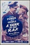 "Movie Posters:War, A Yank in the R.A.F. (20th Century Fox, R-1953). One Sheet (27"" X41""). War.. ..."