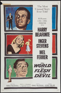 """The World, The Flesh and the Devil (MGM, 1959). One Sheet (27"""" X 41""""). Science Fiction"""