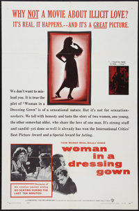"Woman in a Dressing Gown (Warner Brothers, 1957). One Sheet (27"" X 41""). Drama"
