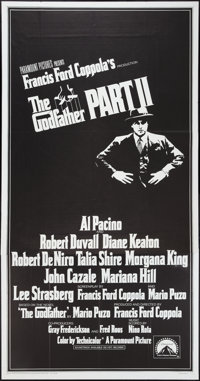"""The Godfather Part II and Other Lot (Paramount, 1974). International Three Sheet (41"""" X 81"""") Flat Folded and L..."""