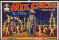 "Movie Posters:Western, Tom Mix Circus Poster (Tom Mix Circus, 1937). Poster (28"" X 42"").Western.. ..."