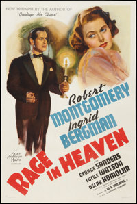 """Rage in Heaven (MGM, 1941). One Sheet (27"""" X 41"""") Style D. Drama"""