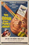 "Movie Posters:Science Fiction, The Brain from Planet Arous (Howco, 1957). Autographed One Sheet(27"" X 41""). Science Fiction.. ..."