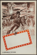 "Movie Posters:War, Republic Studios WWII Stock Poster (Republic, 1948). One Sheet (27""X 41"") Flat Folded. War.. ..."