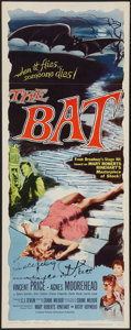 """Movie Posters:Horror, The Bat (Allied Artists, 1959). Autographed Insert (14"""" X 36""""). Horror.. ..."""