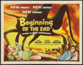 "Movie Posters:Science Fiction, Beginning of the End (Republic, 1957). Half Sheet (22"" X 28"").Science Fiction.. ..."