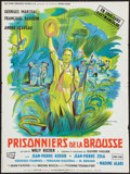 "Movie Posters:Adventure, Prisoners of the Jungle (Sport-Film, 1960). French Affiche (23.5"" X31.5""). Adventure.. ..."