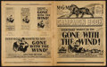 "Movie Posters:Academy Award Winners, Gone with the Wind (MGM, R-1940s & R-1954). Uncut Pressbooks(2) (10"" X 12.25"" & 12"" X 17"", Multiple Pages). Academy AwardW... (Total: 2 Items)"