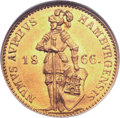 German States:Hamburg, German States: Hamburg. Free City gold Ducat 1866,...