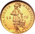 German States:Hamburg, German States: Hamburg. Free City gold Ducat 1862,...