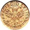 German States:Hamburg, German States: Hamburg. Free City gold Gulden 1675-HL,...