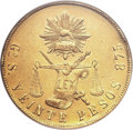 Mexico, Mexico: Republic gold 20 Pesos 1874Go-S,...