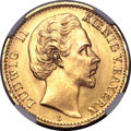 German States:Bavaria, German States: Bavaria. Ludwig II gold 10 Mark 1881D,...