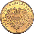 German States:Lubeck, German States: Lubeck. Free City gold 10 Mark 1904A,...