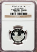 Proof Statehood Quarters, 2009-S 25C Puerto Rico Silver PR70 Ultra Cameo NGC. NGC Census:(0). PCGS Population (449). Numismedia Wsl. Price for prob...
