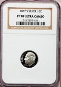 Proof Roosevelt Dimes, 2007-S 10C Silver PR70 Ultra Cameo NGC. NGC Census: (0). PCGSPopulation (385). Numismedia Wsl. Price for problem free NGC...