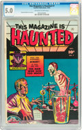 Golden Age (1938-1955):Horror, This Magazine Is Haunted #7 (Fawcett, 1952) CGC VG/FN 5.0 Off-whiteto white pages....