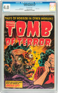 Golden Age (1938-1955):Horror, Tomb of Terror #15 (Harvey, 1954) CGC VG 4.0 Off-white pages....