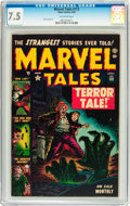 Golden Age (1938-1955):Horror, Marvel Tales #113 (Atlas, 1953) CGC VF- 7.5 Off-white pages....