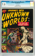 Golden Age (1938-1955):Horror, Journey Into Unknown Worlds #9 (Atlas, 1952) CGC FN/VF 7.0Off-white pages....