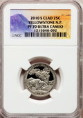 Proof National Parks Quarters, 2010-S 25C Yellowstone National Park Clad PR70 Ultra Cameo NGC. NGCCensus: (0). PCGS Population (309). (#418831)...