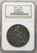 Seated Dollars, 1849 $1 AU58 NGC....
