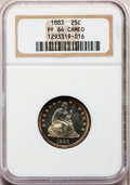Proof Seated Quarters, 1883 25C PR64 Cameo NGC....