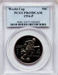Modern Issues: , 1994-P 50C World Cup Half Dollar PR69 Deep Cameo PCGS. PCGSPopulation (1842/0). NGC Census: (6/1). Numismedia Wsl. Price ...