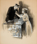 Mainstream Illustration, WILL GREFE (American, 1875-1957). The Boutonnière.Watercolor on board. 20.5 x 17 in.. Signed lower middle. Fromthe...