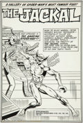Original Comic Art:Splash Pages, Keith Pollard and Frank Giacoia The Amazing Spider-ManAnnual #13 The Jackal Pin-Up Page Original Art (Marvel, 197...