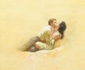 Paintings, Attributed to BARYE PHILLIPS (American, 1924-1969). The Lovers, story illustration. Oil on board. 12.5 x 15.5 in.. Not s...