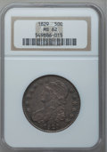 Bust Half Dollars, 1829 50C Small Letters MS62 NGC. O-112, R.1....
