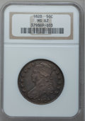 Bust Half Dollars, 1828 50C Square Base 2, Small 8, Large Letters MS62 NGC. O-114,R.3....