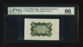Fractional Currency:Third Issue, Fr. 1238SP 5¢ Third Issue PMG Gem Uncirculated 66.. ...