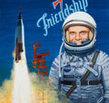Mainstream Illustration, ED VEBELL (American, b. 1921). John Glenn in Space. Acrylicon board. 20 x 21 in. (image). Signed lower right. From ...