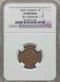 Indian Cents: , 1909-S 1C -- Rev Damage -- NGC Details. XF. NGC Census: (0/413).PCGS Population (0/762). Mintage: 309,000. (#2239.32)...
