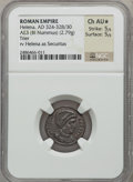Ancients:Roman Imperial, Ancients: Helena, mother of Constantine the Great (died AD 335?).AE reduced follis (2.79 gm). ...