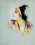 Pin-up and Glamour Art, CHARLES GATES SHELDON (American, 1889-1960). Esther Ralston,Photoplay magazine cover, April 1928. Pastel on board. 24 x...