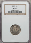 Proof Liberty Nickels: , 1897 5C PR65 NGC. NGC Census: (100/82). PCGS Population (97/75).Mintage: 1,938. Numismedia Wsl. Price for problem free NGC...
