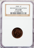 Proof Indian Cents: , 1868 1C PR63 Red and Brown NGC. Ex: Richmond Collection. NGCCensus: (18/129). PCGS Population (25/104). Mintage: 600. Numi...