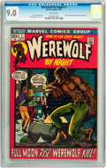 Bronze Age (1970-1979):Horror, Werewolf by Night #1 (Marvel, 1972) CGC VF/NM 9.0 White pages....