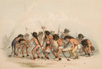 GEORGE CATLIN (American, 1796-1872) North American Indian Portfolio Buffalo Dance (Plate 8)<