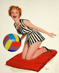 Pin-up and Glamour Art, JOHN SHILLING WITTRUP (American, 1912-1987). Let's Play,1962. Acrylic on board. 30.5 x 25 in.. Signed lower right. ...